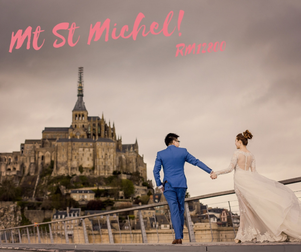 Paris Mt St michel prewedding